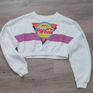 Retro Enjoy Coca-Cola Cropped Sweatshirt